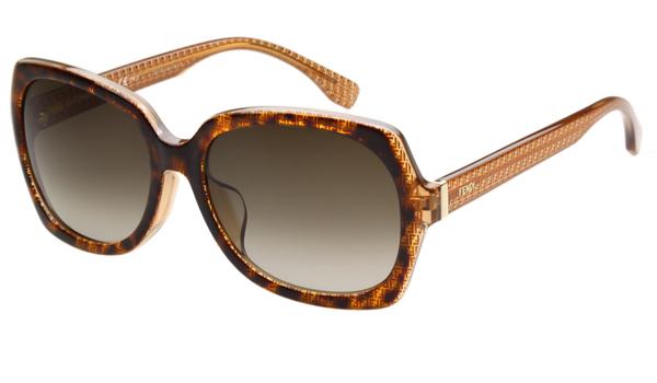 Fendi-時尚太陽眼鏡琥珀色