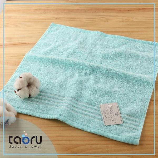 日本毛巾居家實用款珠寶盒薄荷藍34*35 cm方巾taoru日本毛巾