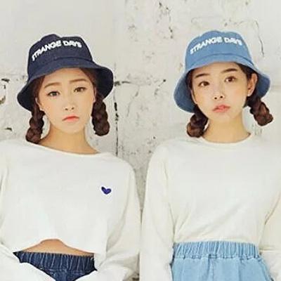 漁夫帽 韓國丹寧水洗牛仔盆帽 (2色)【Ann梨花安】