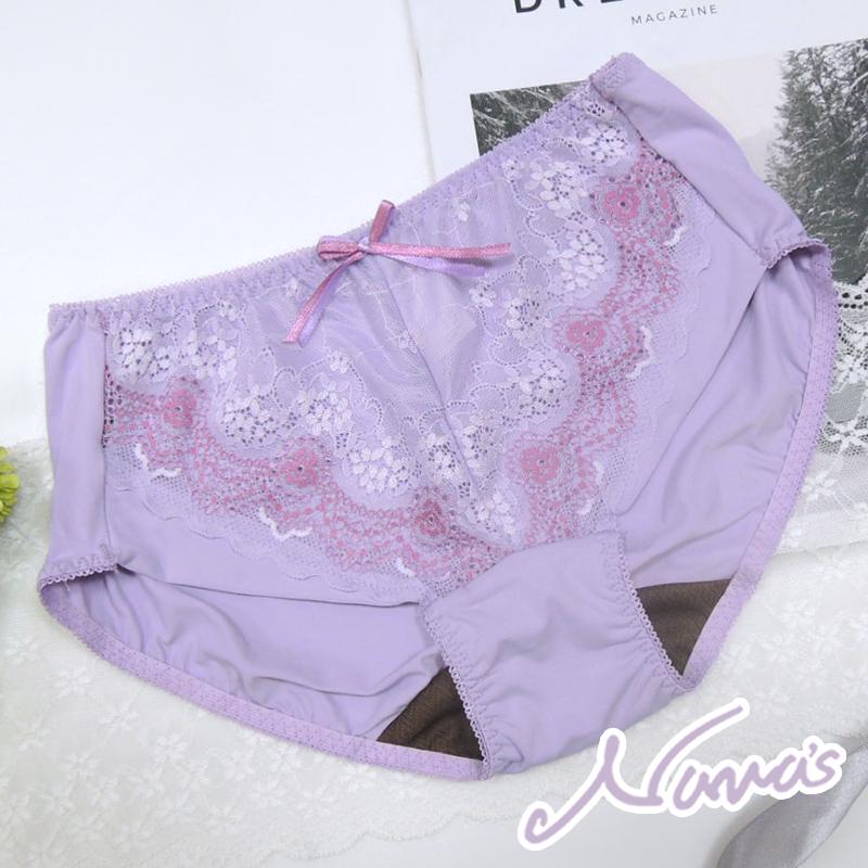 【露娜斯】香榭之吻。舒適貼身女三角褲【紫/灰藍/膚/黑】台灣製 P27836