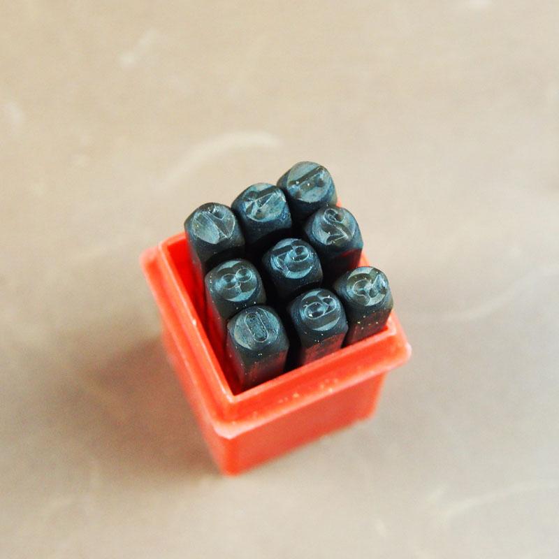 4mm標準數字鋼印 皮雕 皮革 拼布 手創 手工書 DIY