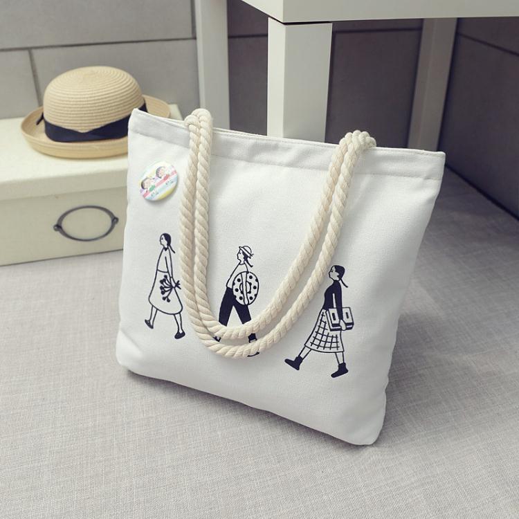 帆布袋日韓女學生帆布手提袋子單肩包書購物袋小清新環保袋拎袋