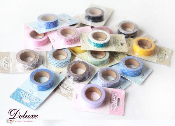 ☆Deluxe☆可愛圖案~時尚設計超好用小捲膠帶★(一組三個)隨機出貨 不挑款式