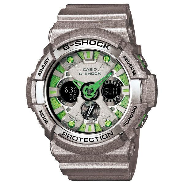 CASIO G-SHOCK金屬狂潮雙顯運動錶金屬綠