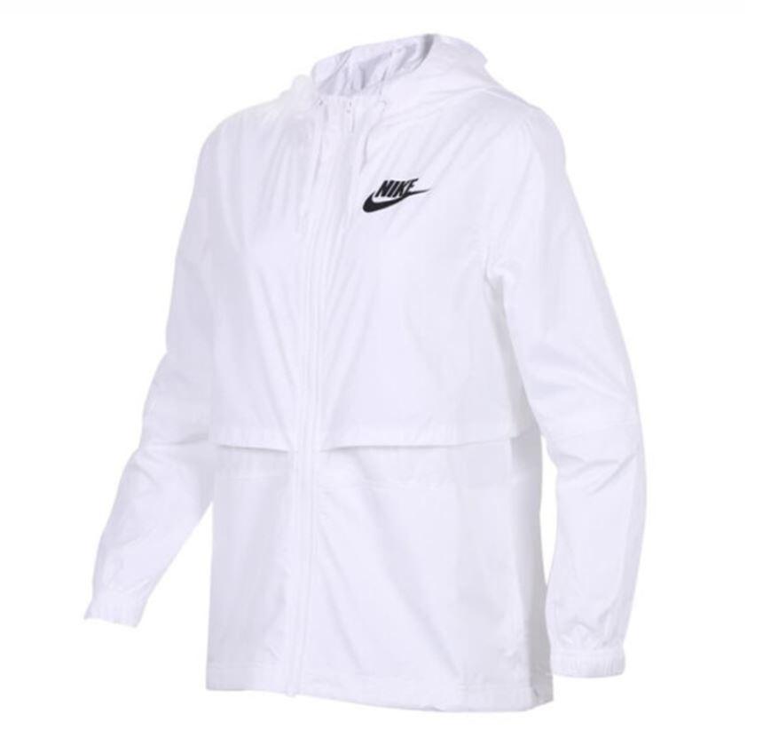 NIKE服飾系列-NSW JKT WVN 女款白色運動風衣-NO.AJ2983101