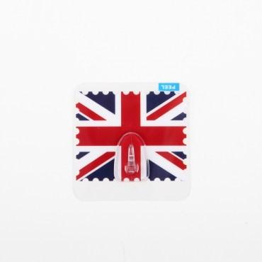 HOMMY黏貼式掛勾-英國國旗單入