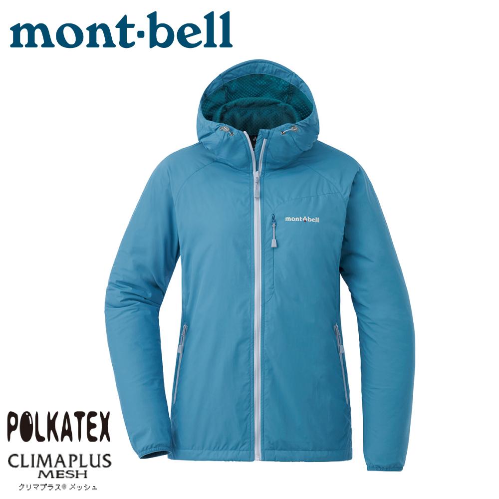 【Mont-Bell 日本 女  Light Shell Parka 連帽風衣《淺灰藍》】1106646/速乾外套/防風夾克
