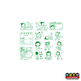 【收藏天地】Micia印章組*小資女孩減重日記∕ 印章 擺飾 送禮 趣味 文具 創意 觀光 記念品