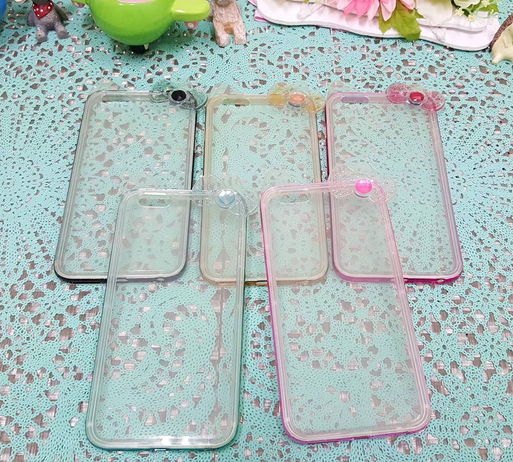 CHENY出清特賣iphone6 6s 4.7吋金屬邊框TPU蝴蝶結造型手機殼保護殼