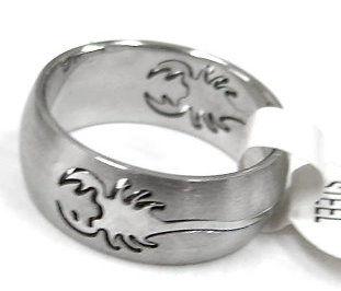 蠍子、天蠍白鋼戒指↘99元