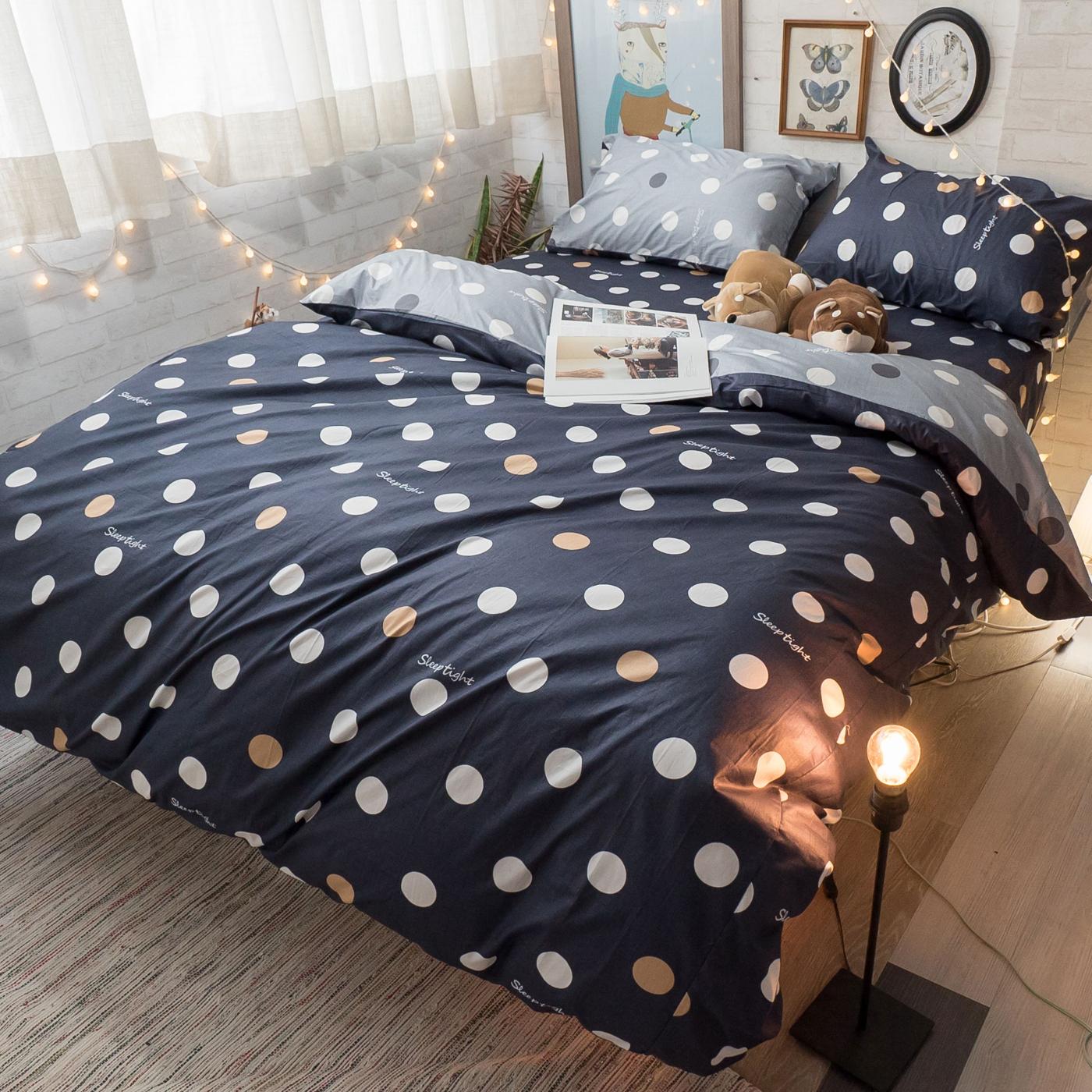 爵士圓舞曲 S3 單人床包與雙人新式兩用被4件組 100%精梳棉  台灣製
