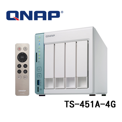 QNAP 威聯通 TS-451A-4G (4G記憶體) 4Bay NAS 網路儲存伺服器