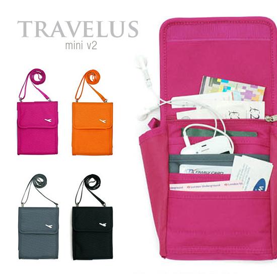 米菈生活館Y20多格功能收納護照包可斜背帆布小包側背包中夾零錢包証件包旅遊必備