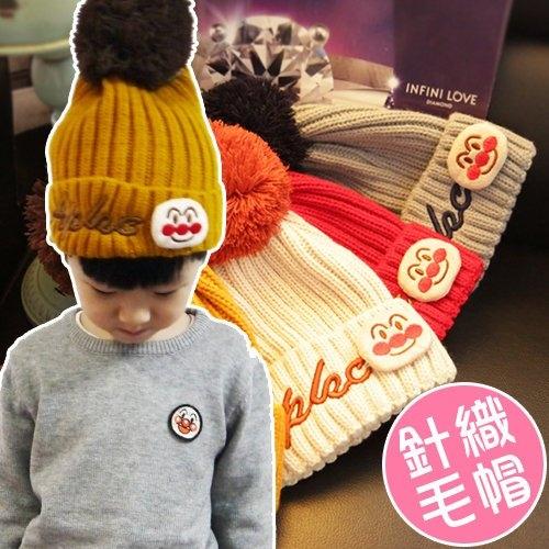 秋冬麵包超人男女童帽子保暖聖誕針織帽毛線帽