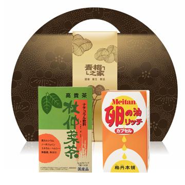 健康禮盒▼杜仲茶卵油禮盒
