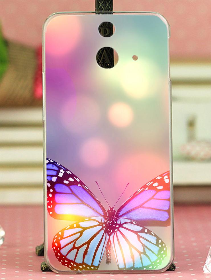 ✿ 3C膜露露 ✿ HTC One E8【夢幻彩蝶*水晶硬殼 】手機殼 保護殼 保護套 手機套