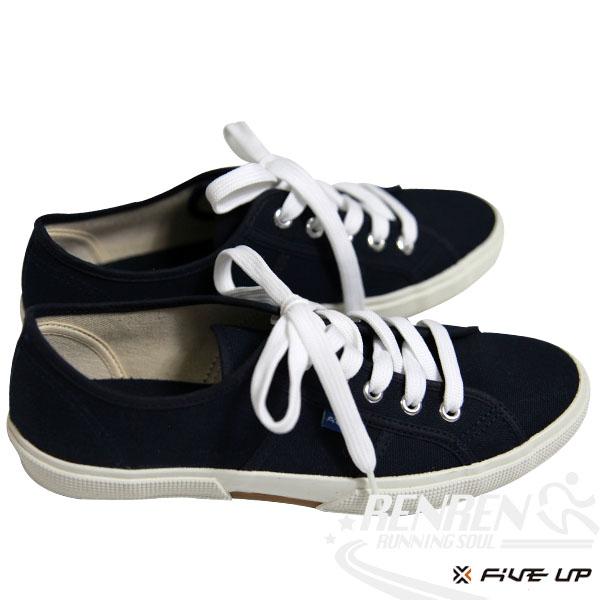 FIVE UP 女 簡約質感休閒帆布鞋 (黑) 2432200180【 胖媛的店 】