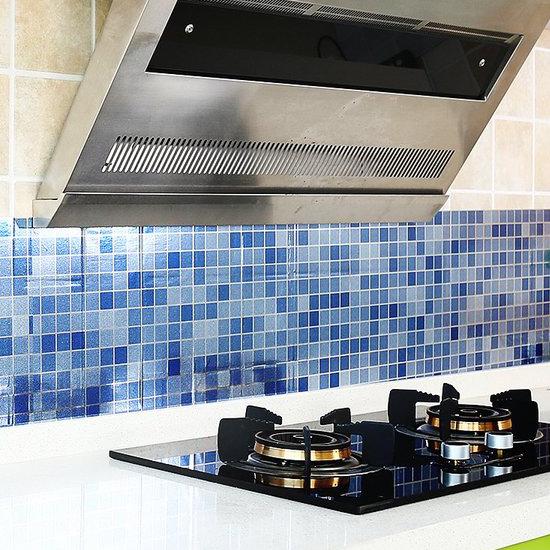 MY COLOR防水自黏馬賽克牆貼廚房浴室耐高溫防油壁紙磁磚抽屜防潮防髒剪裁H14