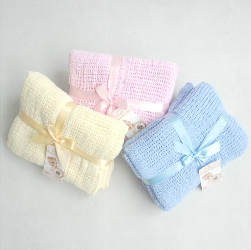 【TwinS伯澄】《透氣洞洞毯100*140》嬰兒包巾推車蓋毯空調毯涼被