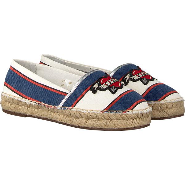 Karl Lagerfeld女鞋 KAMINI郵輪系列草編鞋-白