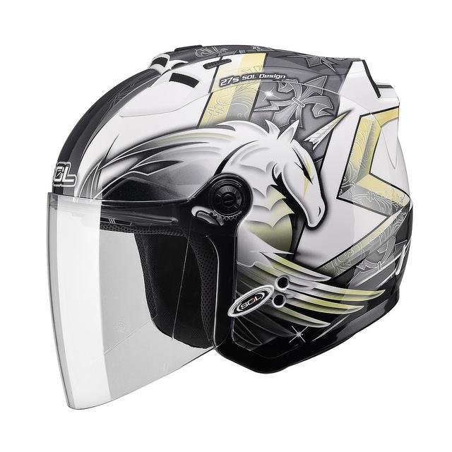 【SOL 27S 獨角獸三代 白銀 半罩 安全帽】內襯全可拆洗、免運 加贈好禮
