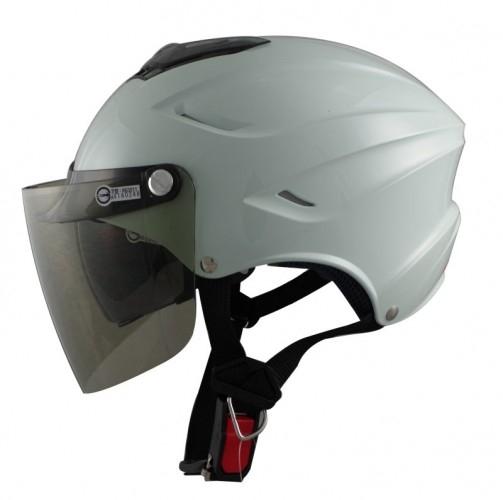 GP5 GP-5 028半罩安全帽飛行帽飛行鏡雪帽內藏墨片素色系列白