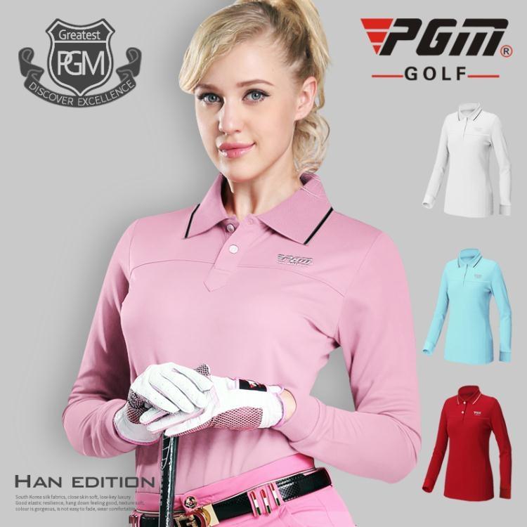 食尚玩家高爾夫服裝女士長袖T恤golf衣服春季上衣
