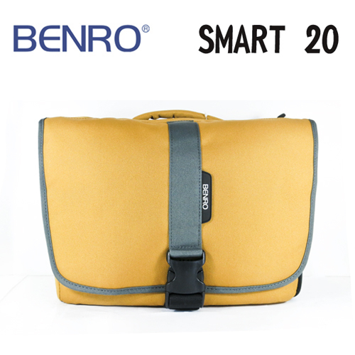 BENRO百諾精靈系列側背包SMART 20卡其黃可放1機2鏡1閃10吋筆電勝興公司貨