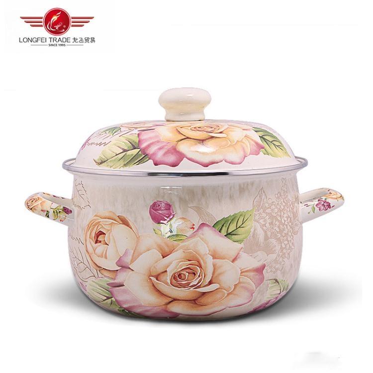 燉鍋-搪瓷鍋加厚雙耳湯鍋燉鍋完美生活館