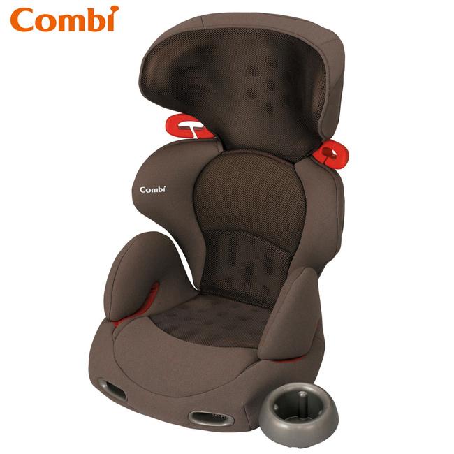 康貝Combi多功能成長型安全座椅-網眼棕New Buon Junior