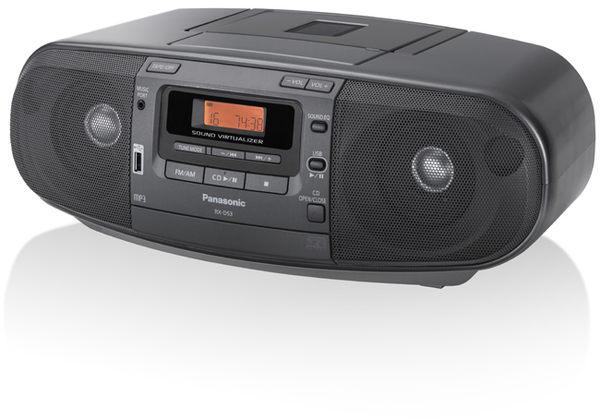 USB音樂播放裝置Panasonic國際手提CD手提收錄音機RX-D53