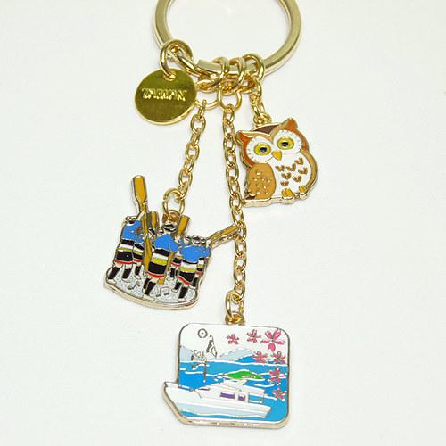 【鹿港窯】台灣印象紀念-金愛台灣鑰匙圈【日月潭】