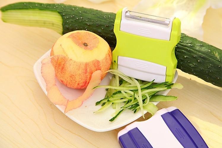 2合1削皮刀刨絲器    雙頭多功能水果削皮器 【顏色隨機出貨】