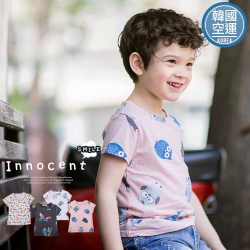韓國童裝~海豹貓頭鷹仙人掌短袖舒適上衣(230249)★水娃娃時尚童裝★