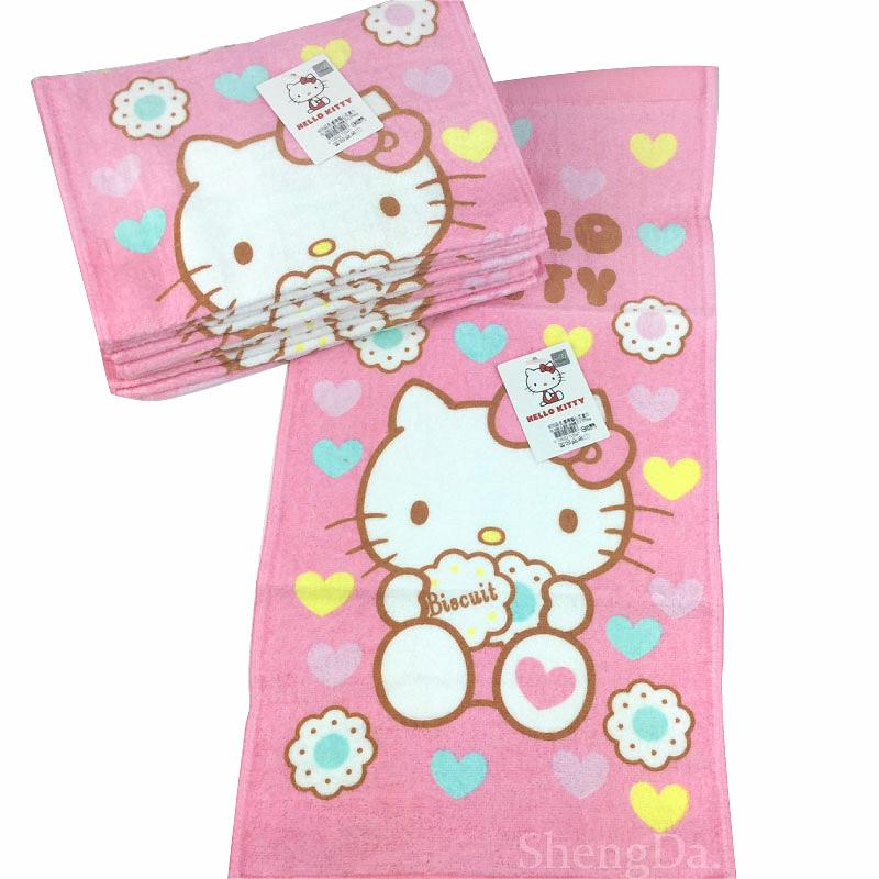 Hello Kitty 凱蒂貓心花童巾-KT15247-台灣製造-正版授權