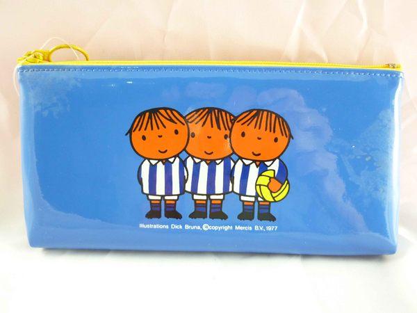 【震撼精品百貨】Miffy 米菲兔米飛兔~扁平防水筆袋『藍底小男生*3』