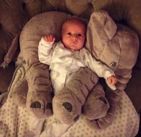 大象抱枕靠枕嬰兒枕安撫枕哺乳輔助枕042585通販屋