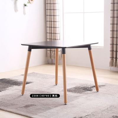 北歐實木餐桌椅組合咖啡廳桌奶茶店洽談桌椅伊姆斯小戶型吃飯桌子預購CH1373