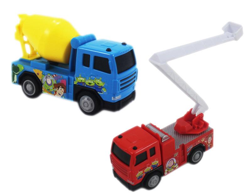 卡漫城Toy Storys迴力車2選1版玩具模型車雲梯車三眼怪玩具總動員巴斯胡迪