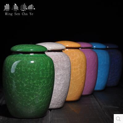 茶具罐茶葉罐冰裂陶瓷茶葉盒鐵觀音陶瓷罐錫罐茶包裝