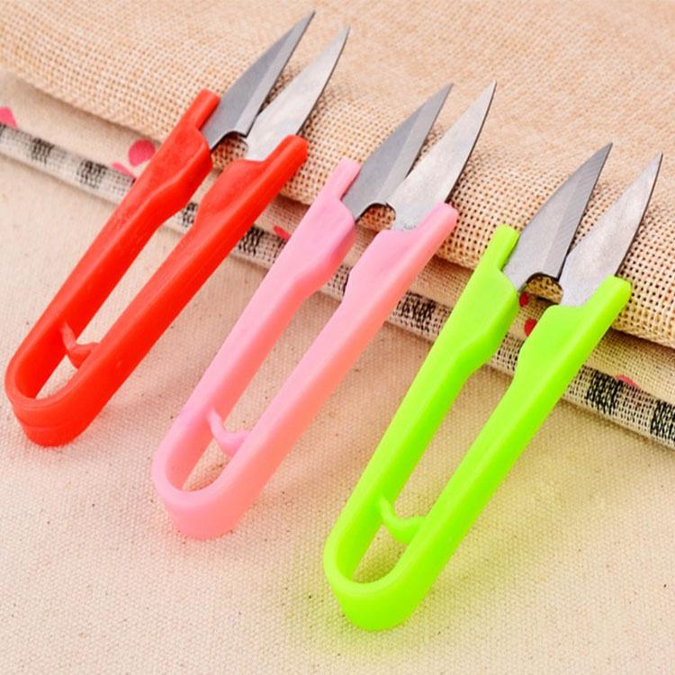 文具【PMG024】多功能彩色線頭U型小剪刀 線頭剪刀 小剪刀 釣魚線剪刀  U型剪刀-收納女王