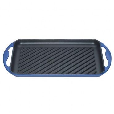 Le Creuset 長方形鑄鐵烤盤 煎盤 32.5*22cm 馬賽藍 法國製造