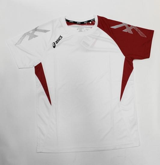 陽光樂活ASICS亞瑟士室內運動系列球衣排汗衣練習衣K31408-0123白色