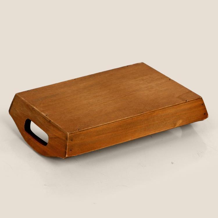 [超豐國際]復古長方形實木盤子 木質小號托盤果盤 小飾品首飾1入