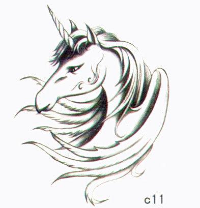 薇嘉雅 獨角馬 超炫圖案紋身貼紙 c11