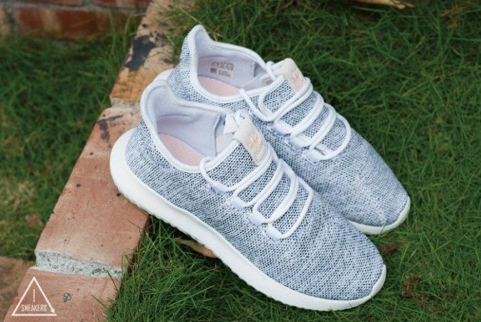 ISNEAKERS Adidas Tubular Shadow淺灰白粉標男女鞋小350 BB8872