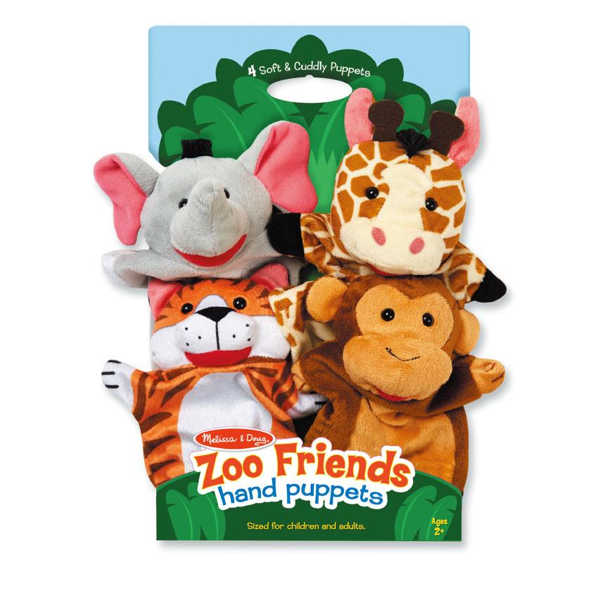 微笑動物手偶 M&D兒童幼兒教具玩具道具遊戲 情境社會扮演家家酒 造型玩偶布娃娃
