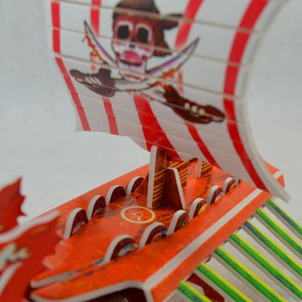 佳廷家庭親子DIY紙模型3D立體拼圖贈品獎勵品專賣店船舶軍艦遊艇海盜船3亞龍號CALEBOU卡樂保