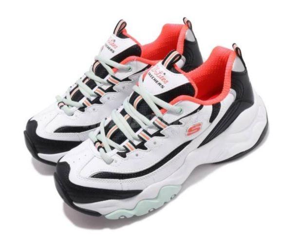 SKECHERS D Lites 3.0 女款復古休閒鞋 白黑-NO.12954WBO