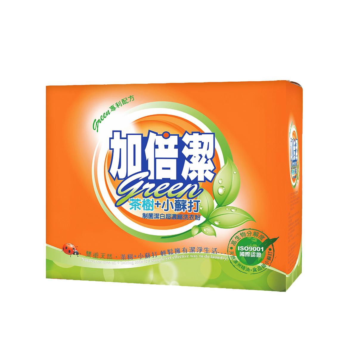 加倍潔茶樹制菌潔白洗衣粉1.5kg(盒)
